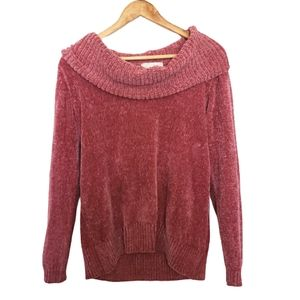 Sweaters - 4/$25 dusty rose cold shoulder soft knit sweater